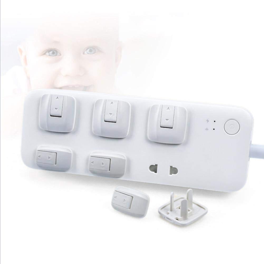 Fancylande Electrical Socket Security Safety Cover Protection For Children Baby Kids Pet UK Plug Socket Safety Cover Protector,8//24pcs Pack White Electrical Socket Protective Cover