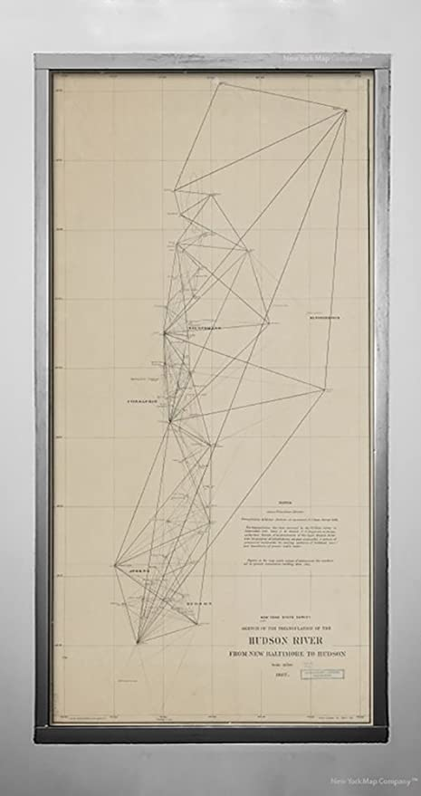 Amazon.com: 1887 Map Albany, N.Y. Sketch The Triangulation The ...