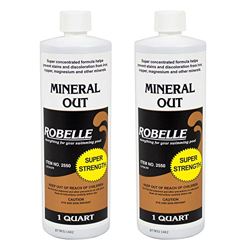 Robelle 2550-02 Mineral Out Stain Remover for Swimming Pools, 1-Quart, (Out Swimming Pool)