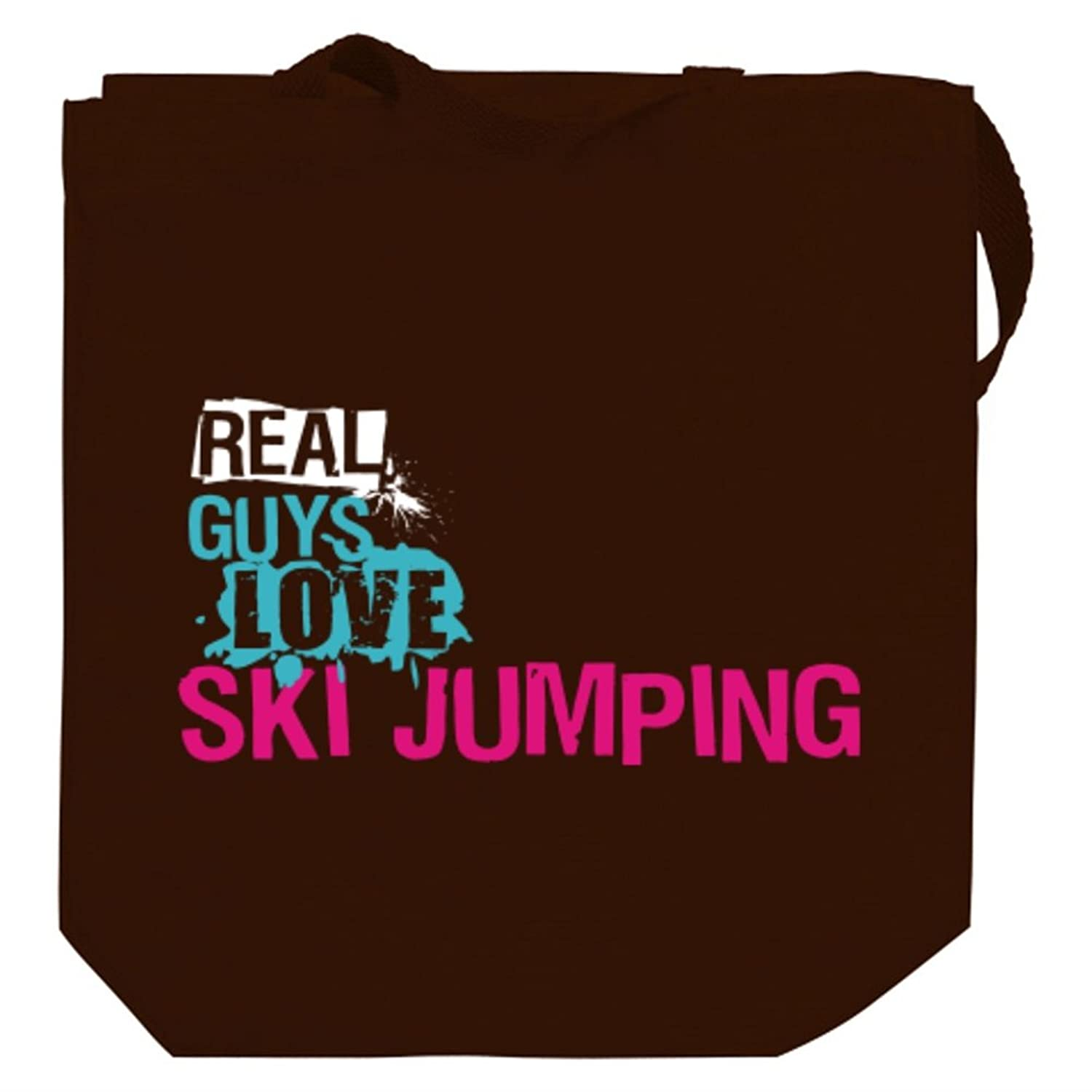 Real guys love Ski Jumping Canvas Tote Bag