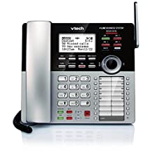 VTech CM18245 4-Line Expandable DECT6.0 Small Business Office Phone with Answering System-Accessory Deskset, Black and Silver