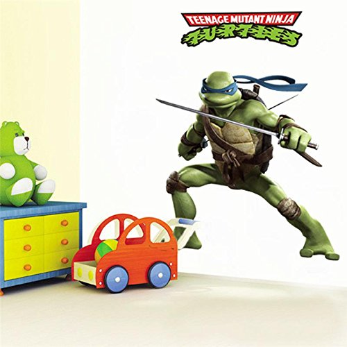 MaxLight Teenage Mutant Ninja Turtles Home Decals DIY Decorative Stickers Kids Bedroom Removable Cartoon Movie Mural Art Posters -