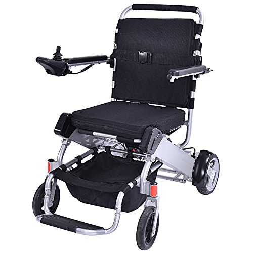55 lbs only Heavy Duty Supports 330 lbs Aluminum Foldable Wheelchair Electric Power Propelled Portable (Foldable Power Wheelchair)