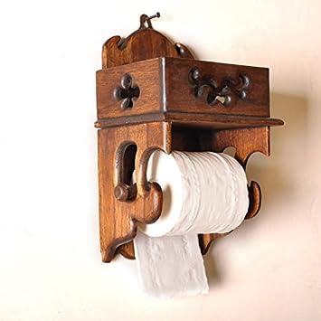 Vintage Holz Bad Toilettenpapierhalter Kreative Aus Holz