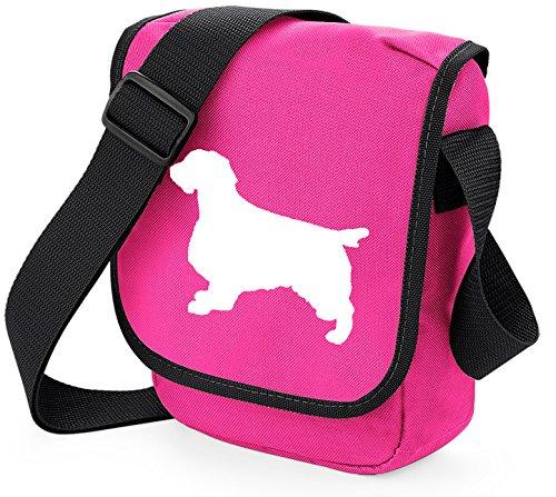 Choice Colours Dog Springer Bag Spaniel on Bag Bag Spaniel Bag Dog Gift Pink White of Reporter Springer Silhouette Shoulder xrBOxZP