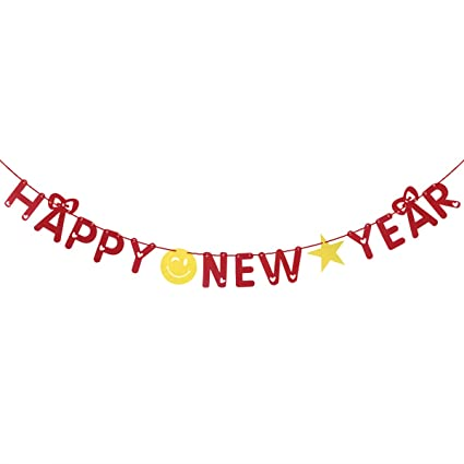happy new year banner holiday bunting banner garland for happy new year banner festival decoration