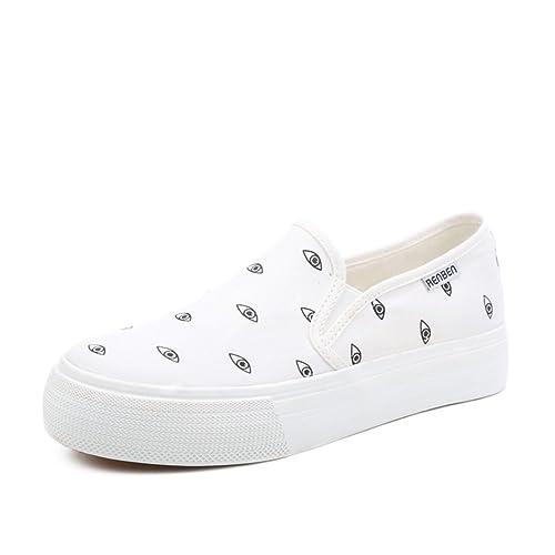 zapatos de lona lindos resorte femenino y el verano/Ojos pequeños zapatos casuales patrón/