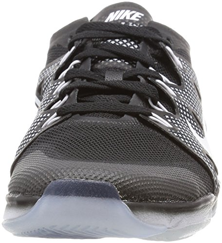 Nike Wm Air Zoom Fit Agility 2, Zapatillas de Gimnasia para Mujer Blanco (Black / White)