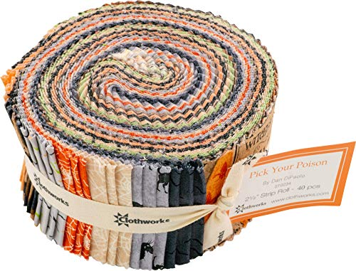 Dan DiPaolo Pick Your Poison Strip Roll 40 2.5-inch Strips Jelly Roll Clothworks
