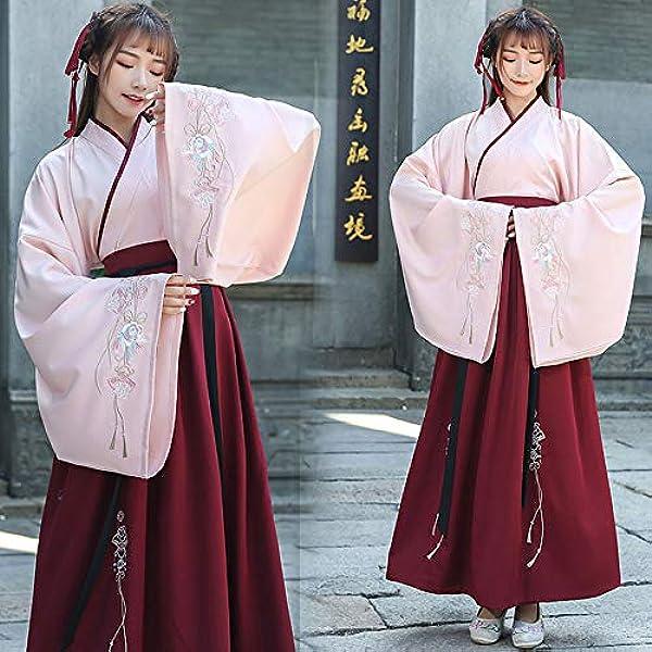 Femme Robe HANFU Antique Costume Tops Jupe Manteau en Coton mélangé Cosplay robe