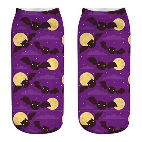 Halloween Sock Ankola Cute Casual Socks 3D Pumpkin