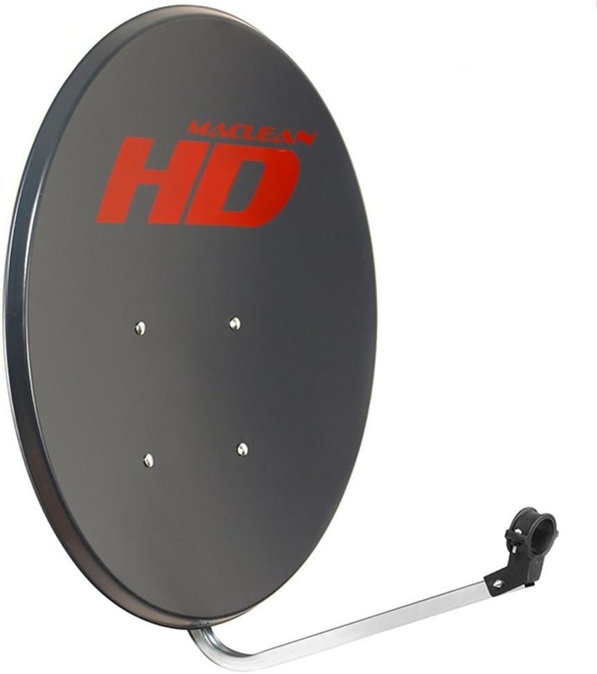 Maclean MCTV-780 - Antena parabólica de 80cm, galvanizada, de ...