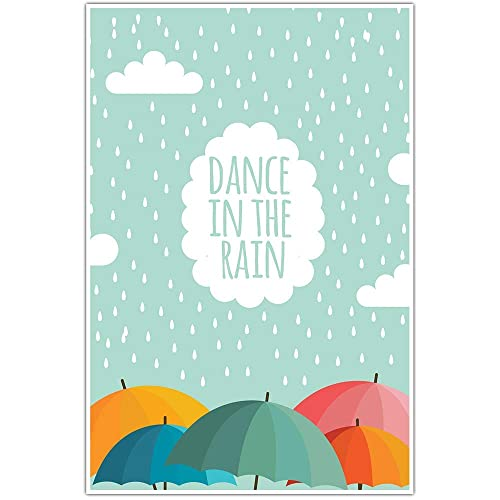 Amazon Com Dance In The Rain Motivational Wall Art Handmade