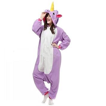 5477f98ccf JYSPORT Unicornio Pijama Cosplay Disfraces Animal Ropa Carnaval Halloween  Navidad Pijama (unicornio púrpura