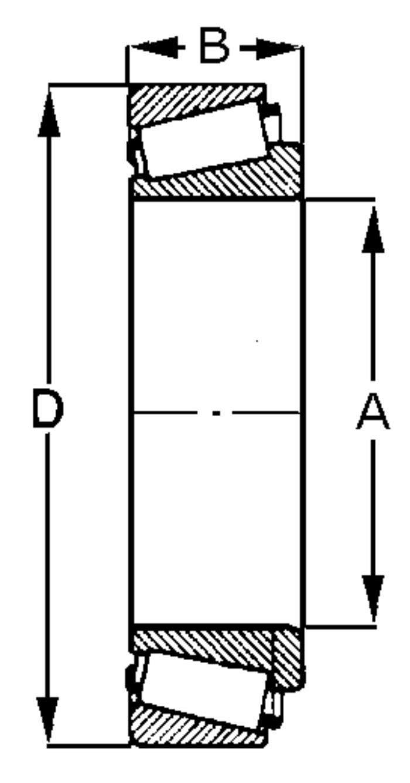 Rodamiento c/ónico 30209 /Ø 45-85