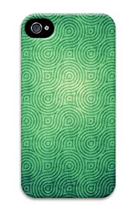 iPhone 4s Case & Cover - Cool Swirly Green Pattern Cool PC Hard Case Cover for iPhone 4 and iPhone 4s