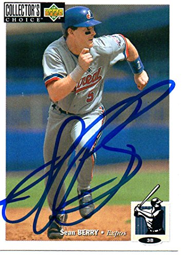 Sean Berry Montreal Expos 1994 Upper Deck Collector's Choice Signed Card