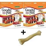 Amazon.com : Good'N'Fun Triple Flavored Rawhide Kabobs For