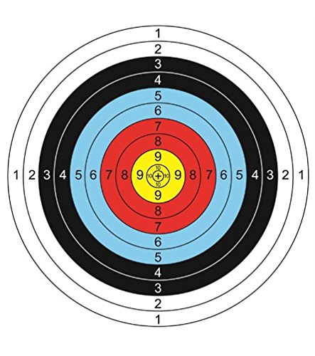 30Pcs Archery Paper Targets Arrow Targets for Air-Soft, BB Guns, Air Rifles Shooting Accessories Ideal for Daily Shooting Practice for Archery Enthusiasts Beginner, 16x16inch