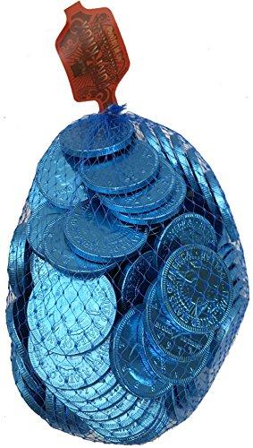 Foil Coin - Fort Knox Milk Chocolate 1.5-inch Coins Light Blue Foil: 1 lb