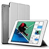 #8: New iPad 2017 iPad 9.7 inch Case, ESR Ultra Slim Lightweight Smart Case Trifold Stand with Auto Sleep/Wake Function, Microfiber Lining, Hard Back Cover for Apple New iPad 9.7-inch,Silver Gray