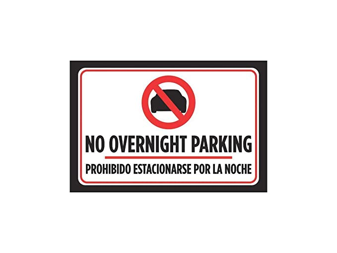 Amazon.com: Fhdang Decor No Overnight Parking Prohibido ...