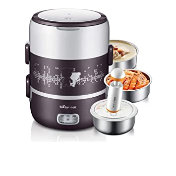40eda2645afc Amazon.com: 220V 3 Tier Electric Heating Lunch Box Set Portable Food ...