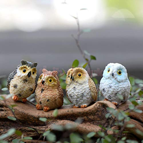 Resincraft Owl 3.5x2.5cm DIY Craft Miniature Figurine Ornament Bonsai Beauty Set Fairy Garden Terrarium 4X