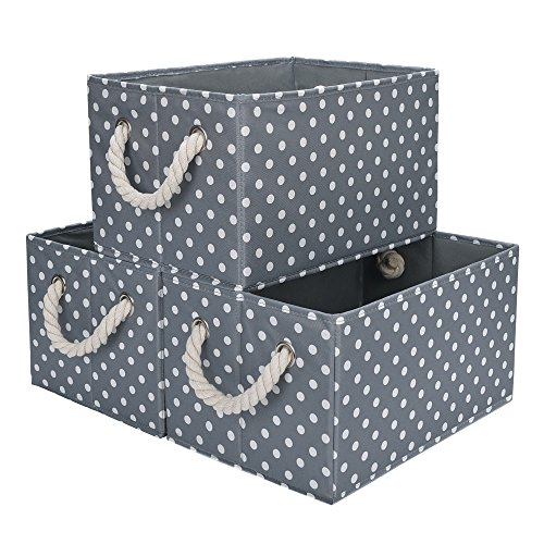gray baskets for storage - 4