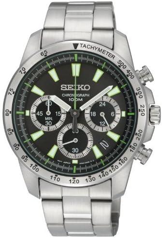 [セイコーインポート]腕時計セイコーimportクロノグラフSSB027PC逆輸入品シルバー