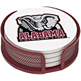 Thirstystone VUAL2-HA22 Stoneware Drink Coaster Set with Holder, University of Alabama