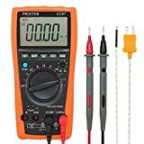 Proster Multimeters 4000 Counts Digital Multimeter Auto Ranging Ammeter Voltmeter Ohmmeter Voltage Meter with AC DC Voltage Current Resistance Capacitance Frequency Temperature Duty Cycle Diode Transistor and Continuity Test