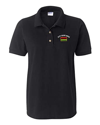 4a433f91 Image Unavailable. Image not available for. Color: Custom Women Polo Shirts  Mauritius Embroidery ...
