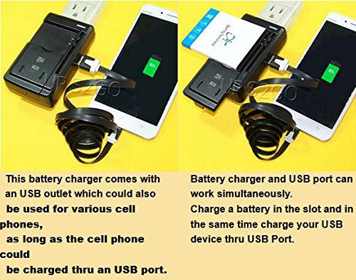 Long Lasting 8000mAh Extended Double layer Battery Thicker Back Cover Universal Travel Desktop USB/AC Charger for LG Stylo 2 Plus MS550 MetroPCS Phone