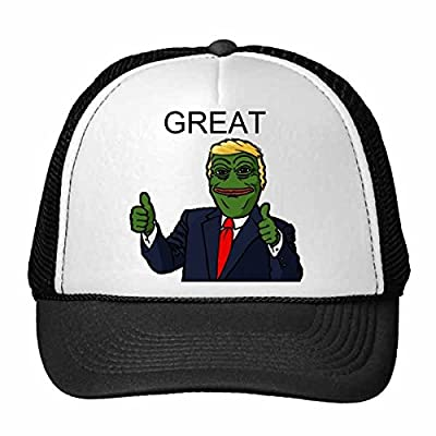 America American President Sad Frog Trump Funny Let's Make America Great Again Ridiculous Spoof Meme Image Trucker Hat Baseball Cap Nylon Mesh Hat Cool Children Hat Adjustable Cap