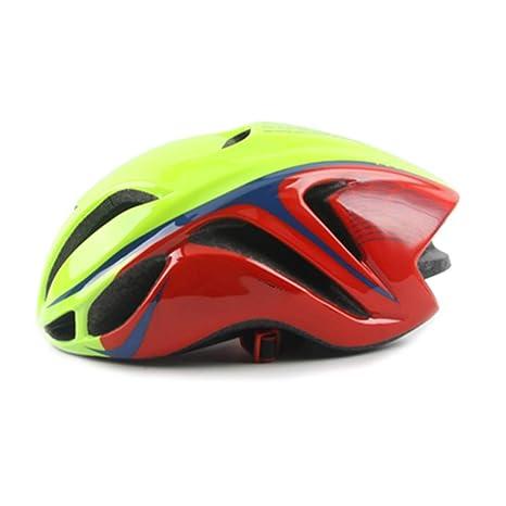 HJOMX Casco de Bicicleta para Hombre, Casco Ultraligero EPS + PC ...