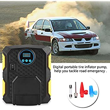 DC 12V Digital Portable Car Tire Inflator Pump 150PSI Air Compressor for Cars Balls Bikes
