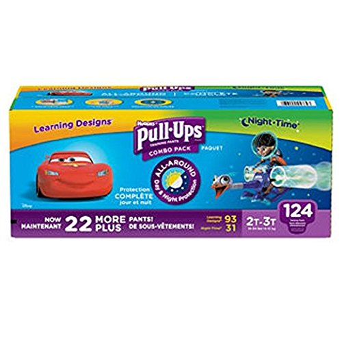 Huggies® Pull-Ups® Training Pants for Boys Day and Night Combo Pack Size: 2T-3T 124 Count