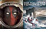 Abandon Earth with Deadpool Slipcover Series The Day After Tomorrow & The Martian 2-Blu-ray Bundle