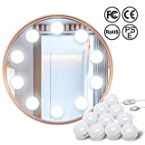 TLXWIN Vanity Mirror Lights Kit with 10 Dimmable Light Bulbs, USB Powered Lighting Fixture Strip for Makeup Vanity Mirror Table Set in Dressing Room (Mirror Not Include)