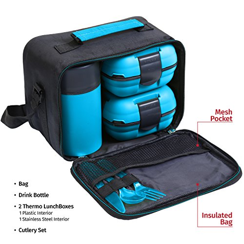 lunch box bag set for adults and kids pinnacle insulated. Black Bedroom Furniture Sets. Home Design Ideas