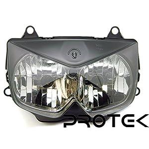 Protek Brand New 2008 2009 2010 2011 2012 Kawasaki Ninja 250 EX 250 ; 2003 2004 2005 2006 Kawasaki Z1000 Headlight Head Lamp Front Light Replacement Housing Assembly
