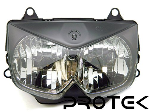 Protek Brand New 2008 2009 2010 2011 2012 Kawasaki Ninja 250 EX 250 ; 2003 2004 2005 2006 Kawasaki Z1000 Headlight Head Lamp Front Light Replacement Housing Assembly ()