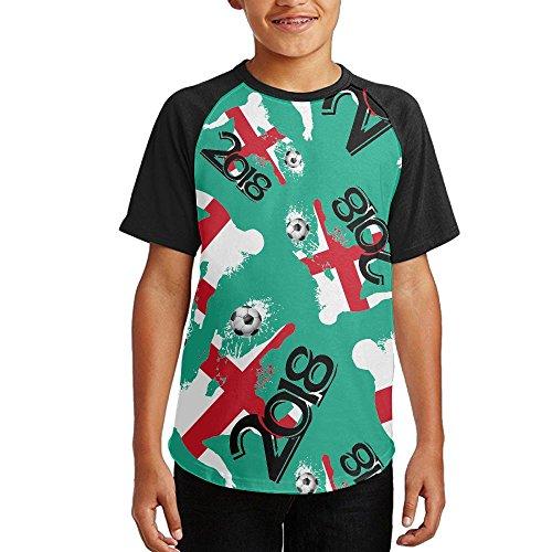 2018 Football Match England Youth Short Sleeves Raglan Print Baseball T Shirts Tees hot sale