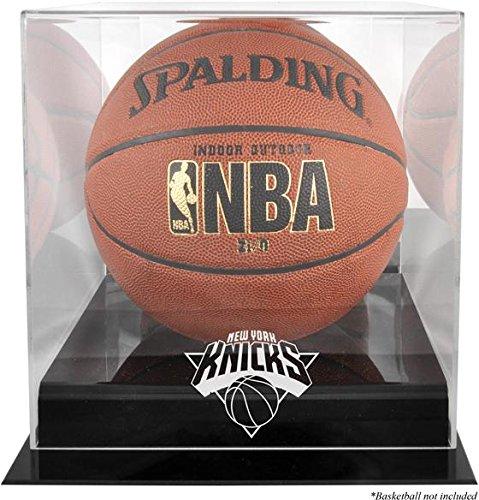 (Mounted Memories New York Knicks Black Base Logo Basketball Display Case and Mirror)