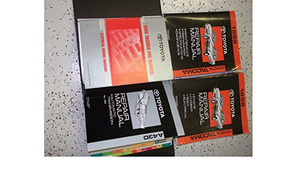 1999 Toyota Tacoma Truck Service Repair Shop Manual Set Factory Book Set 2 Volume Set Electrical Wiring Diagram Manual And The Automatic Transmission Manual The Service Manual Volume 2 Covers The Chassis Body Electrical Engine And