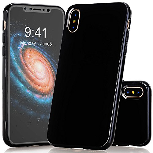 Cheap Cases iPhone X Case, BAISRKE Anti-slip Shockproof TPU Bumper Glossy Flexible Soft Silicone..