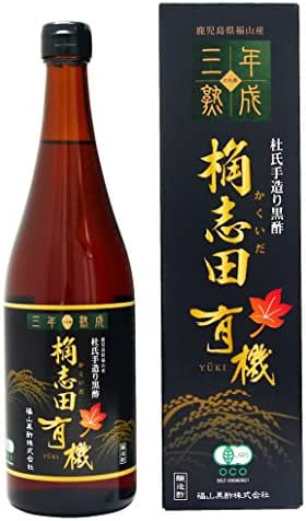 KAKUIDA Premium Organic Brown Rice Black Vinegar Aged 3 Years Kurozu 24.34 Fl, Oz (720 ml)