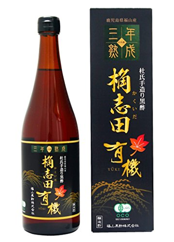 KAKUIDA Premium Organic Brown Rice Black Vinegar Aged 3 Years Kurozu 24.34 Fl, Oz (720 ml) by Kakuida