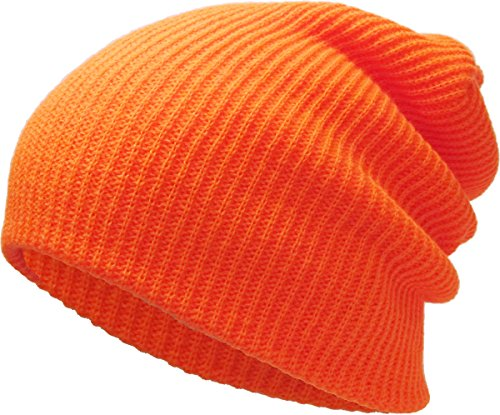 KBETHOS Comfortbale Soft Slouchy Beanie Collection Winter Ski Baggy Hat Unisex Various Styles (One Size Fits Most, Solid Slouch Baggy Orange)